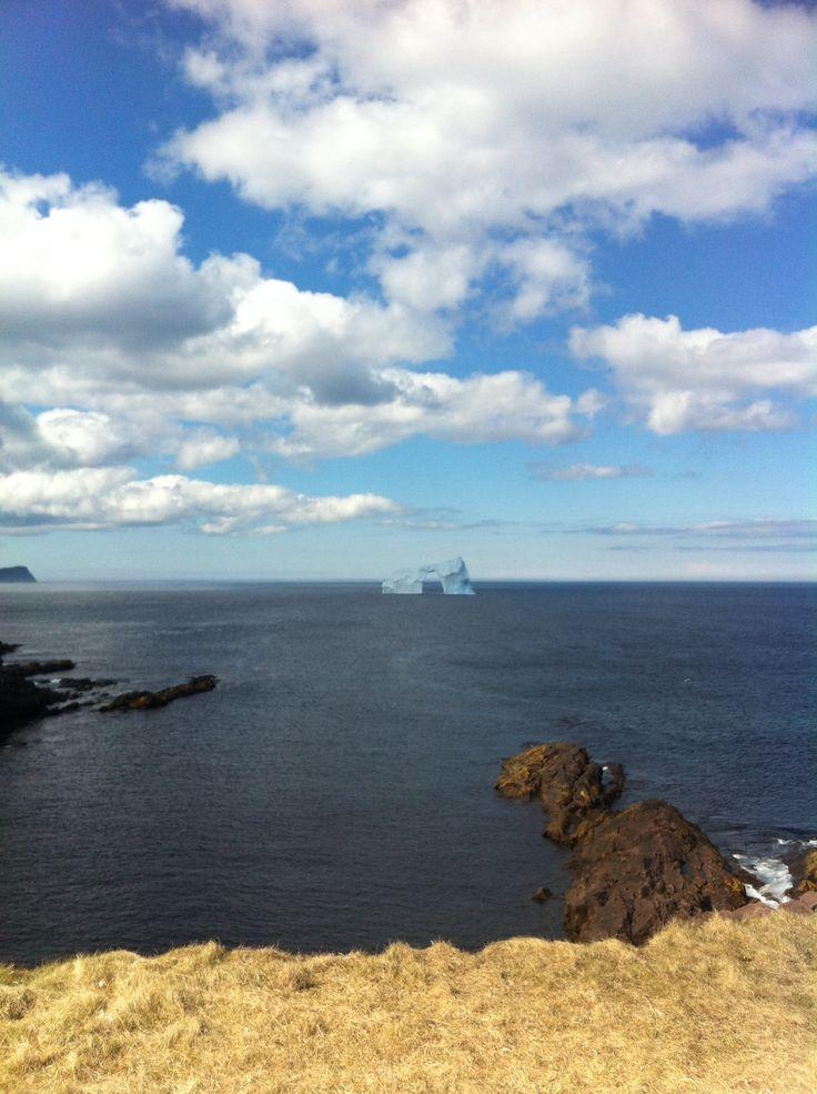 Iceberg at Cape Spear, Newfoundland.