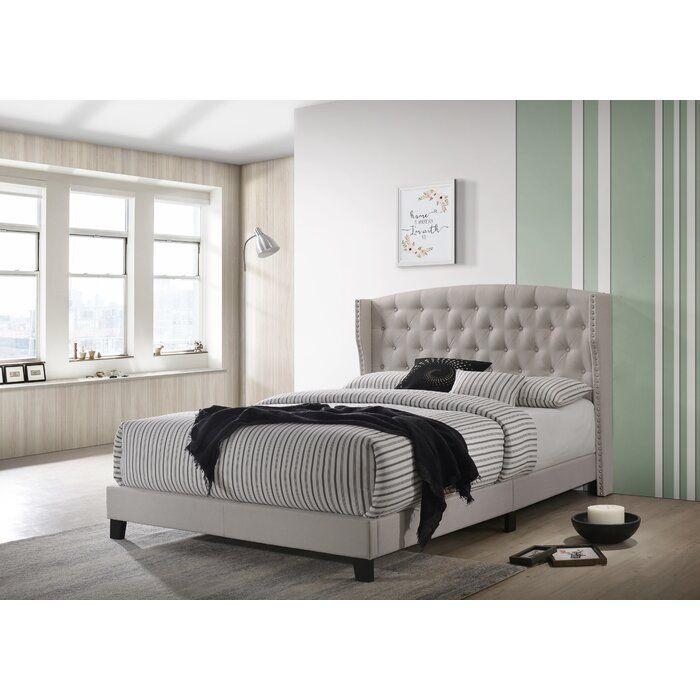 Canora Grey Escondido Upholstered Platform Bed Reviews Wayfair Upholstered Beds Upholstered Platform Bed Platform Bed