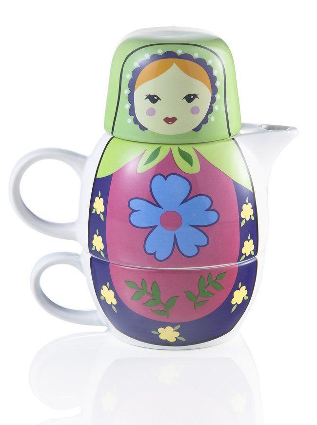 Matryoshka teapot