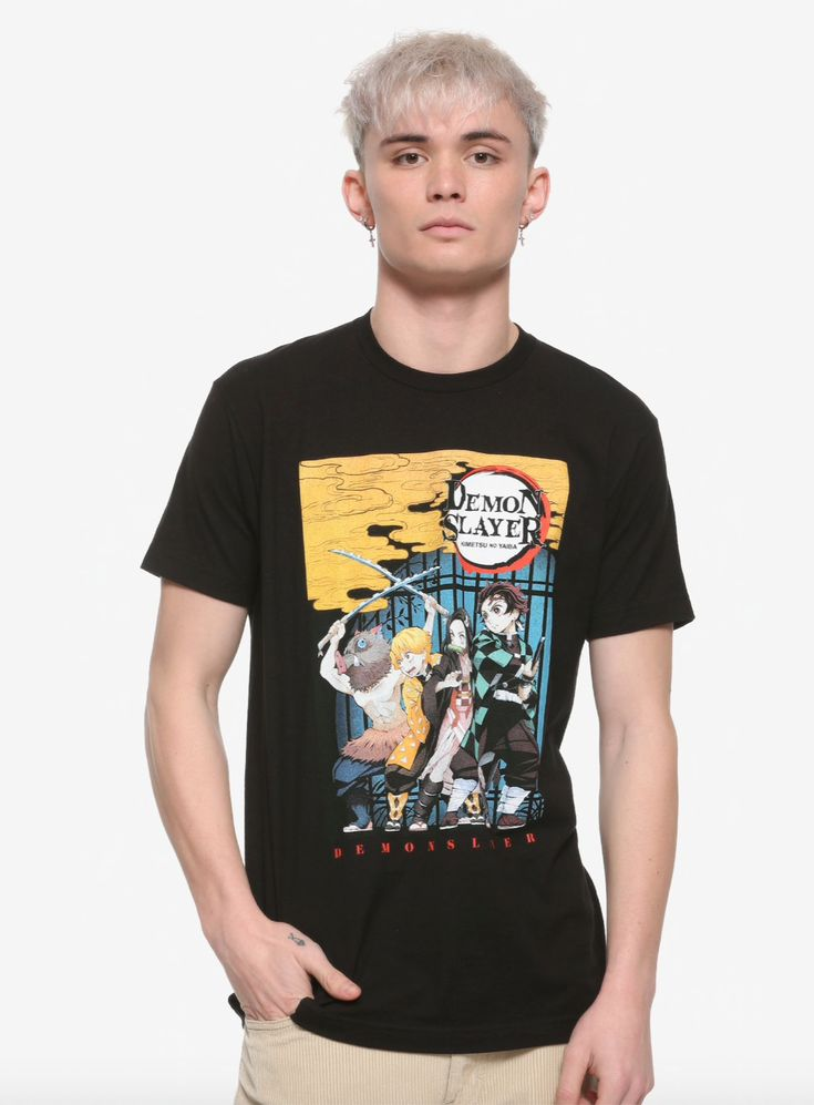 Demon slayer group poster tshirt in 2020 anime shirt
