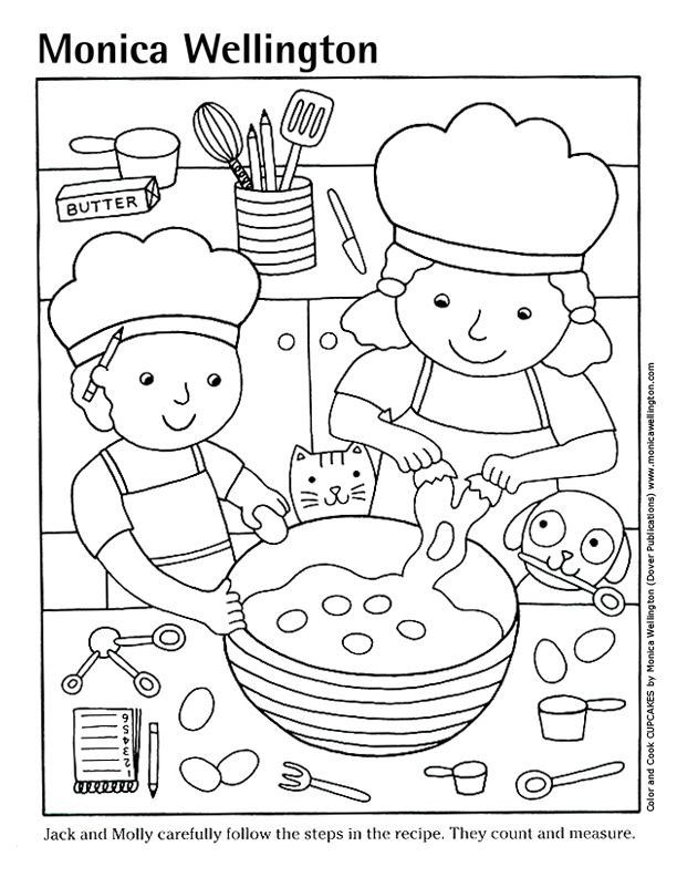 Colouring In Page Sample Page From Color Cook Story Coloring