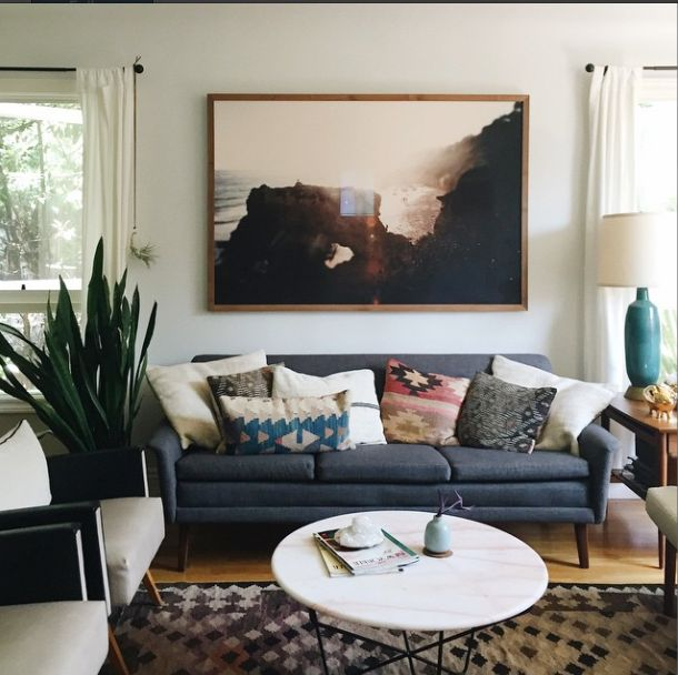 Earthy Boho Living RoomEclectic