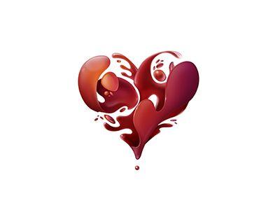 Dribbble - Heart by Kostadin Kostadinov.  Usually I'm not 1 for hearts, but this I like.
