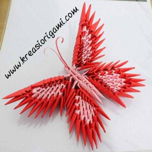 origami 3D kupu-kupu | kreasi kertas | Pinterest | 3d and ...