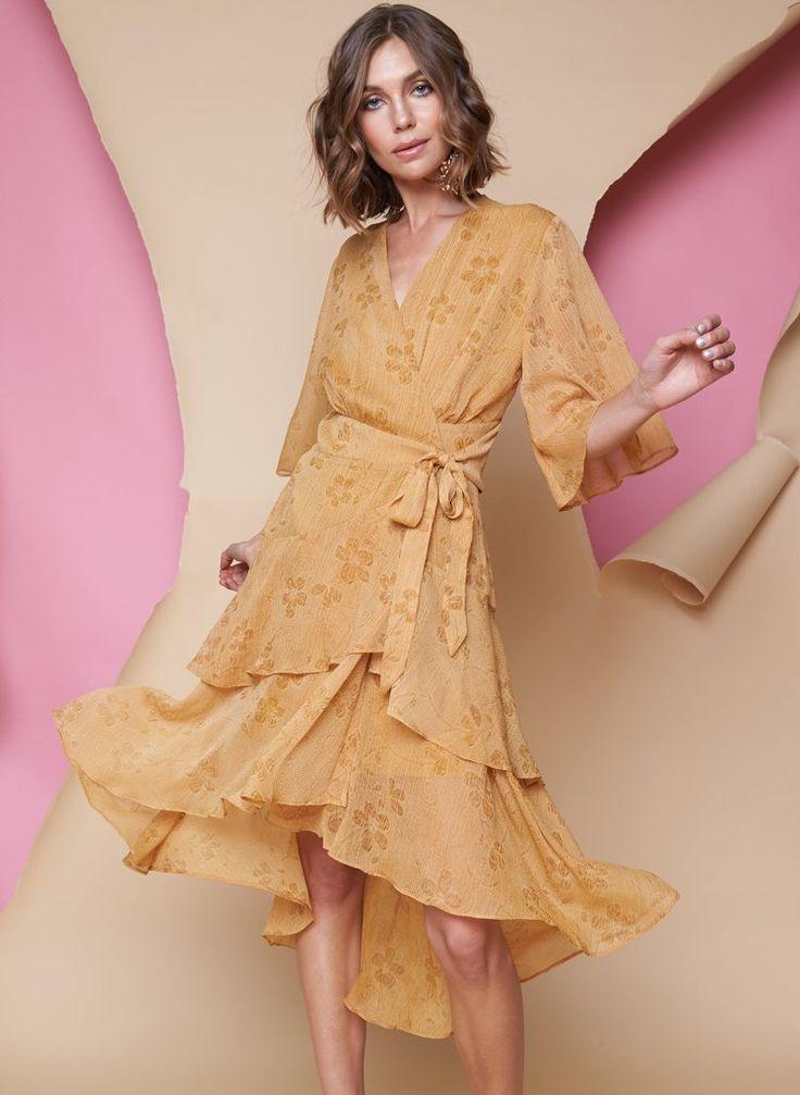 Pink Stitch - Ps The Label Say It Again Midi Dress - Mustard