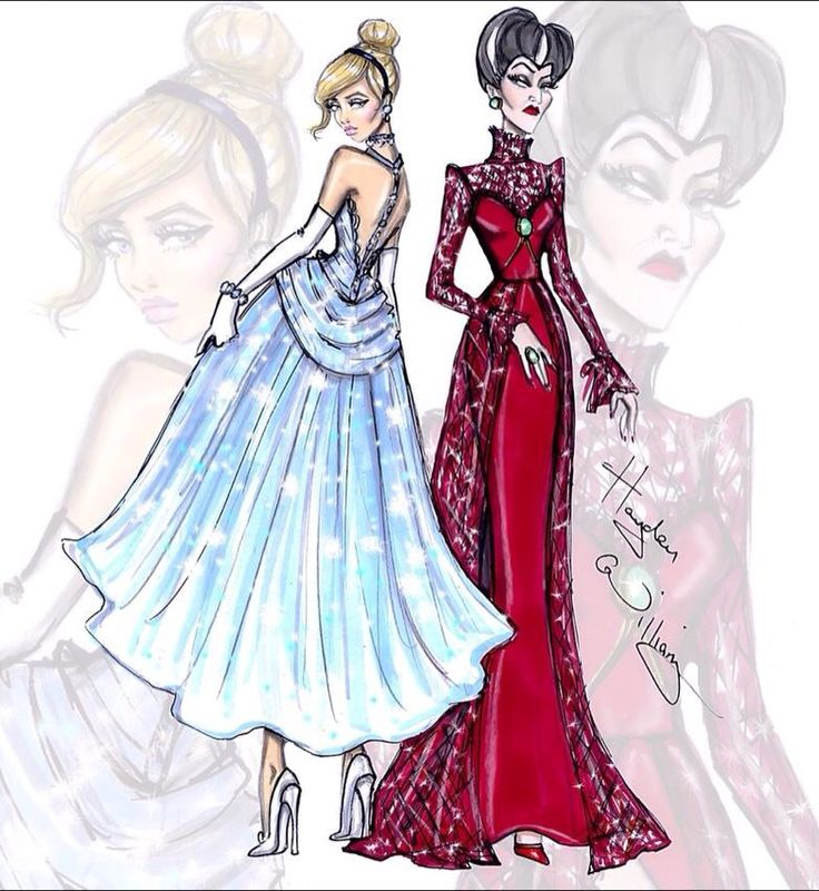 Cinderella & Lady Tremaine Disney Princesses and their villains done by Hayden Williams