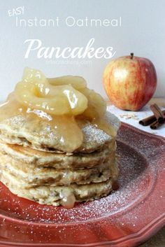 Easy Quaker Instant Oatmeal Pancakes Recipe YUM #QuakerTime #ad
