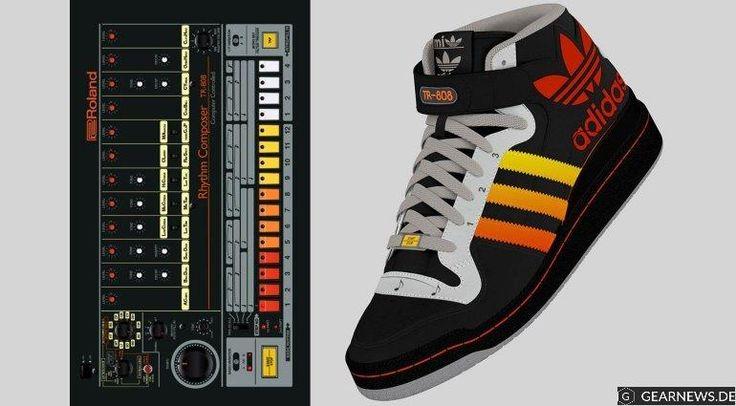 """Neely & Daughters stellen für die Adidas Kampagne """"Just For Kicks"""" einen Prototypen eines Sneakers vor, der nicht nur äußerlich die legendäre Roland TR-808 zum Vorbild hat. Schick!"""