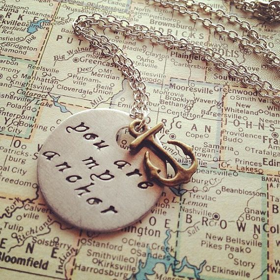 You Are My Anchor  Hand Stamped Necklace by SeizeTheNight on Etsy, $16.00: 16 00, Hand Stamped, Etsy, Sweets 16, Anchors Sweetest Things, Anchors Hands, Anchors Belly, Tati Sweets, Hands Stamps Necklaces