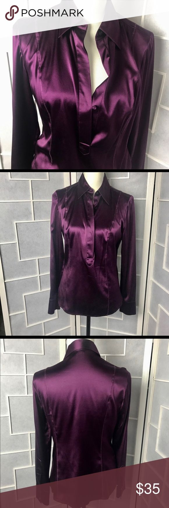Gorgeous Ann Taylor Royal purple silk blouse Gorgeous Ann Taylor  royal purple silk blouse  Size 6   Worn once by actress on set and cleaned. Retail $98.00. I'm a professional makeup artist and wardrobe stylist for film and print. I'm moving so I'm selling all my favorites. Come follow me and see my antics on film on my instagram under my company Bombshell Factory Ann Taylor Tops Blouses