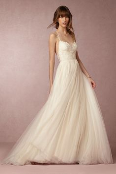 Rosalind Gown from @BHLDN This is anthropologies wedding line- some of the dresses are actually pretty affordable and they are crazy gorgeous!