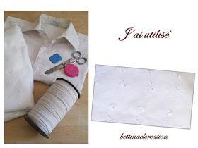 Diy Refashion : détails du projet de transformation des chemises de mon fils,  liste de tutoriels de recyclage et refashioning,  Relookez une chemise d'homme pour créer une nouvelle garde robe