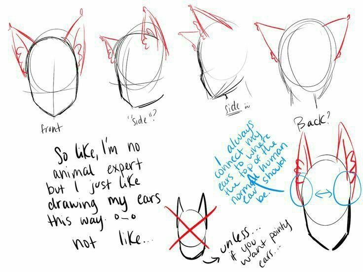 cat ears neko text; draw