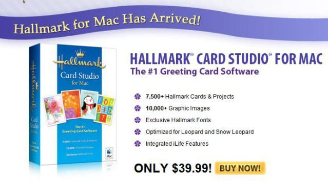 Greeting Card Software for Macintosh