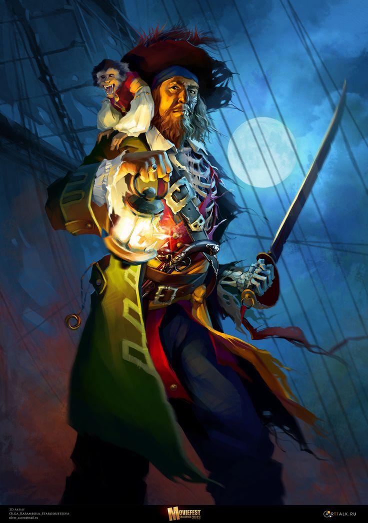 Hector Barbossa by Olga Starodubtseva | Illustration | 2D | CGSociety