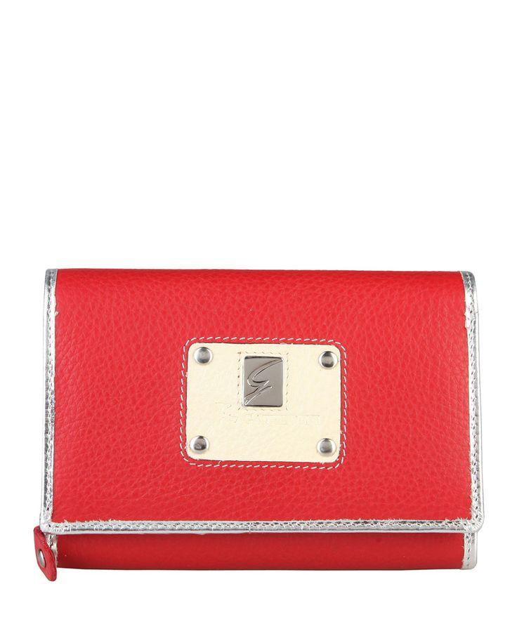 Gattinoni  - collezione donna - portafoglio in pelle con logo. - portacarte di credito e portadocumenti - scomparto per  - Portafoglio donna Rosso
