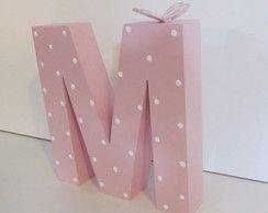 Letra Em Mdf Decorativa 20cm X 3cm