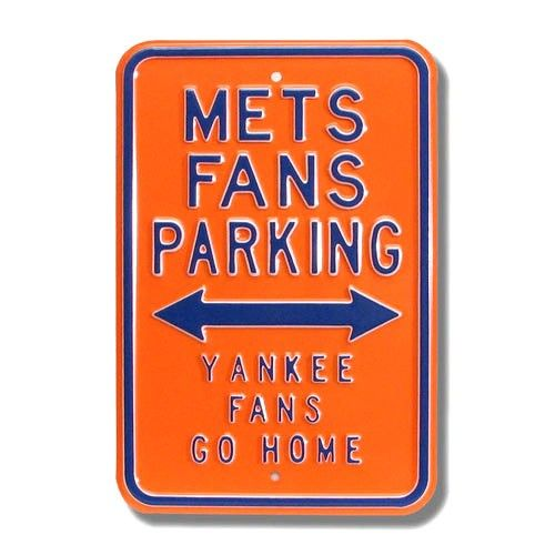 New York Mets Orange Parking Sign