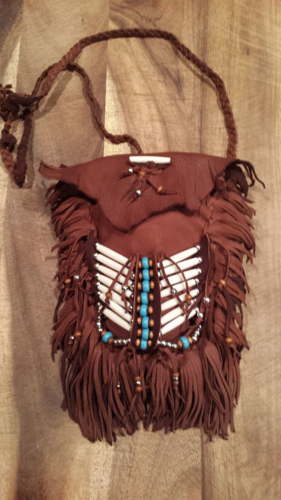 Native American leather bag by TribalTerri on Etsy, $95.00