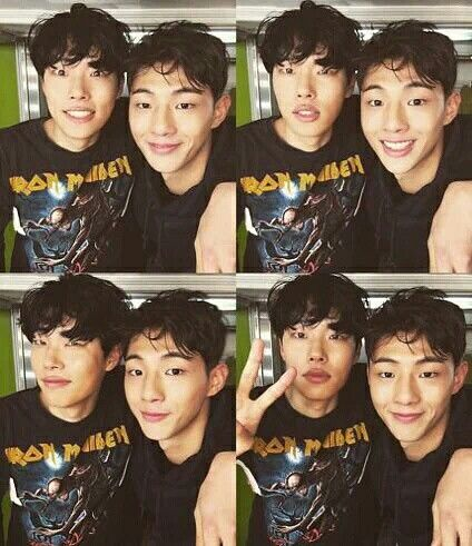 Ryu Jun Yeol and Ji Soo. Ji Soo be everywhere, takin' pictures with everyone. Damn. Haha.
