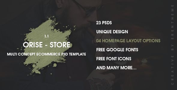 Orise Store - Ecommerce PSD Template. Full view & Download here: https://themeforest.net/item/orise-store-ecommerce-psd-template-/17224674?ref=thanhdesign