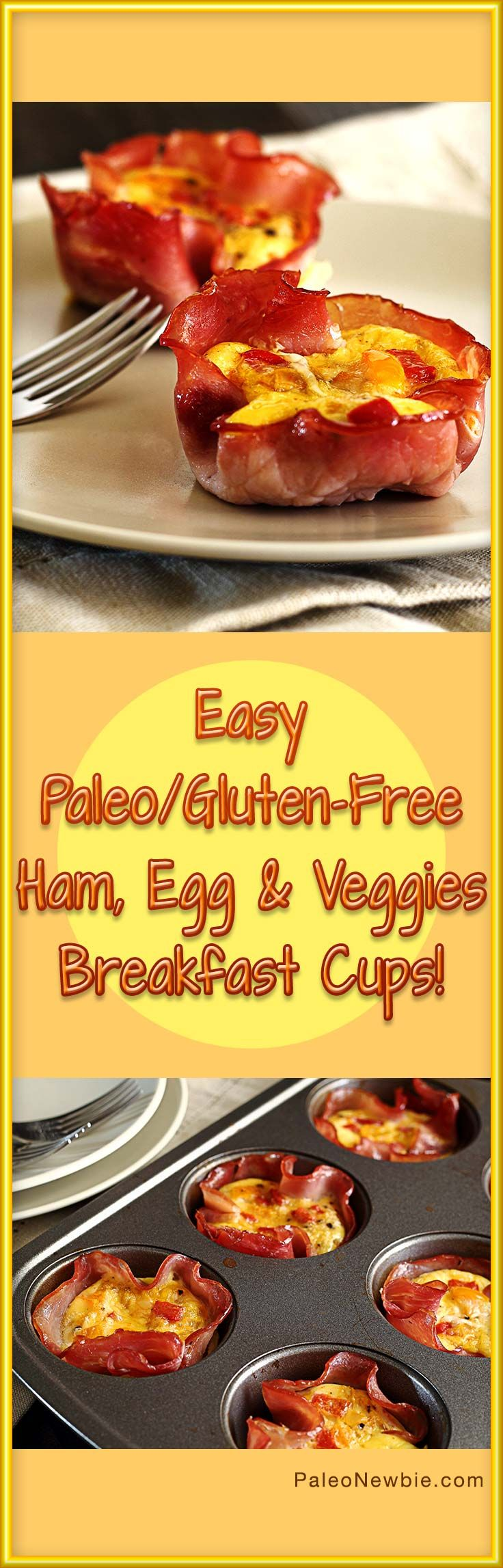 Quick, simple and delicious breakfast cups. Make ahead of time for a protein-packed grab-n-go breakfast anytime. Paleo & gluten-free recipe. #paleo #glutenfree