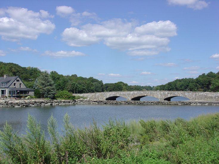 The famous Rings End Bridge, Darien CT
