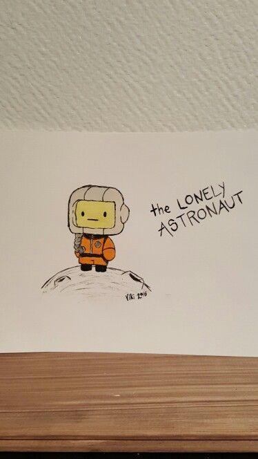 "Akvarellmålning - ""Astronaut"""
