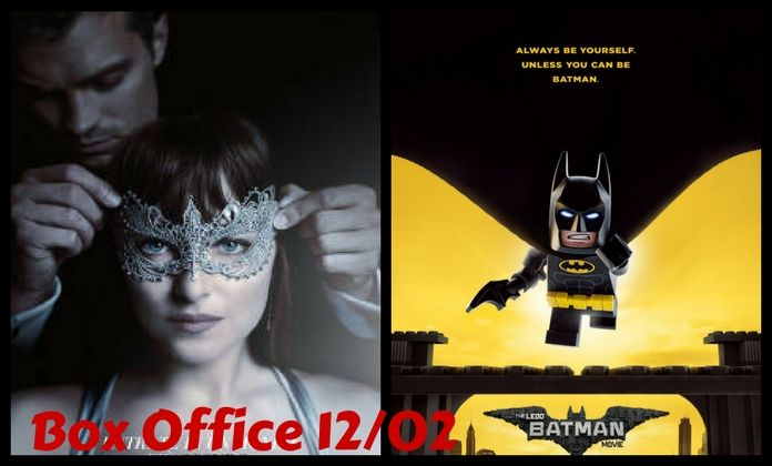 Box Office 12 febbraio Italia e USA, Cinquanta sfumature di nero e Lego Batman in testa alle classifiche dei film più visti del fine settimana
