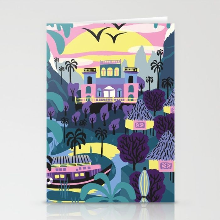 """""""Latin nature"""" greeting card by Marijke Buurlage. Each purchase supports the artist. The design is also available on other products including phone cases, tote bags, pillows and art prints."""