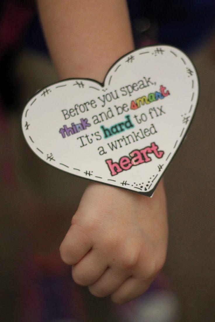 Keepin' It Kool In KinderLand: Wrinkled Hearts + Freebie!