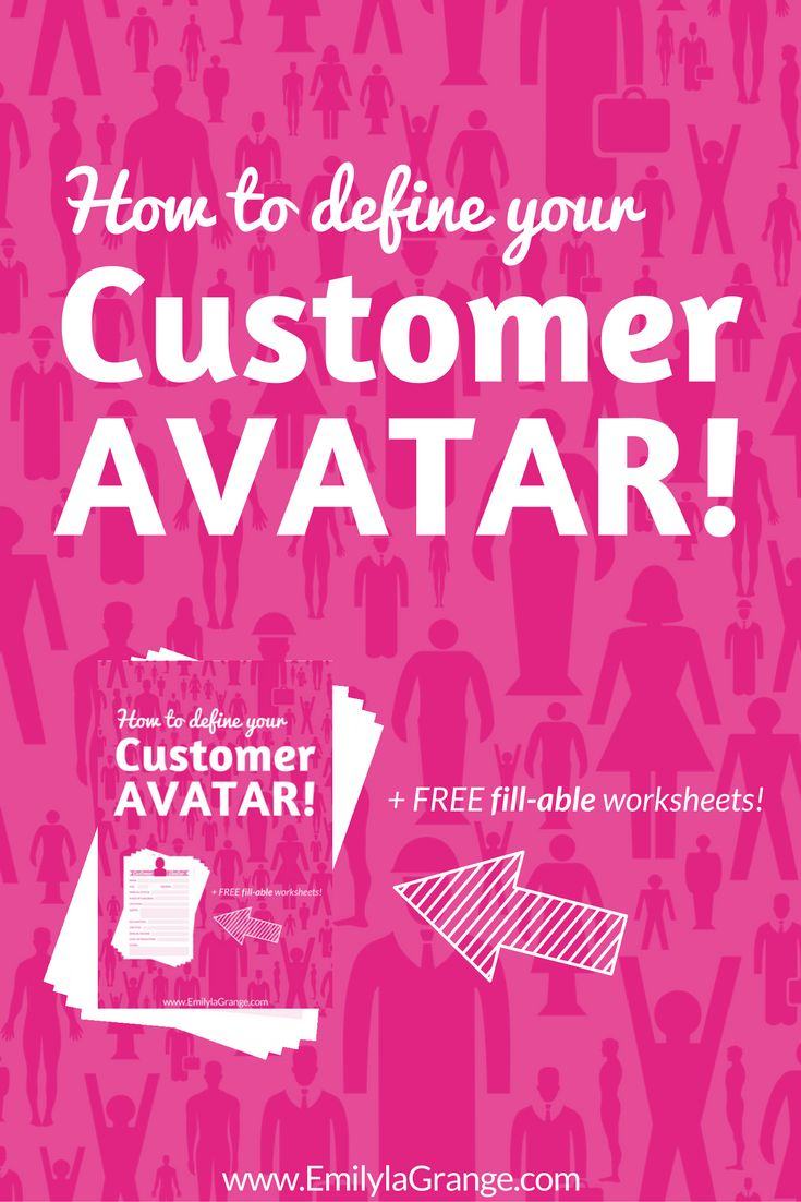 Small business marketing tips: How to Define your Ideal Customer Avatar [+FREE fill-able worksheets]. Grab to avoid hit-or-miss marketing and create content perfectly designed to attract and help your audience.