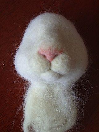 Чудо из ничего - Мастер - класс по валянию Белого Кролика на каркасе.