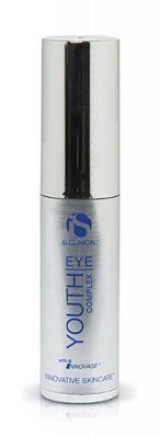 "IS Clinical Youth Eye Complex 0.5oz. Rapidly Smoothes and Hydrates. The result is skin that is stronger and better able to resist damage. This innovative formula features ""intelligent proteins"" clinically proven to target damaged sites and regenerate skin. Dermal structure is strengthened and the formation of collagen encouraged. Youth eye complex combines powerful peptides, key growth factors and antioxidants to rapidly reduce wrinkles, puffiness and dark under-eye areas. 0.5 fl. oz."