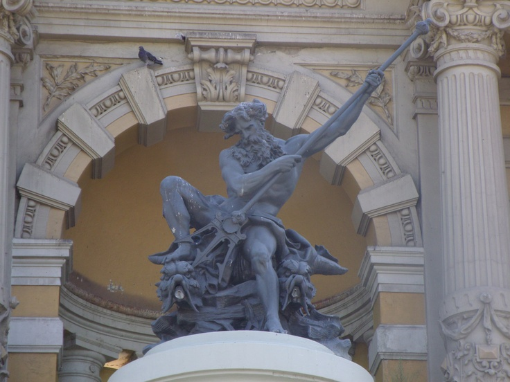 King Neptune at Cerro Santa Lucia