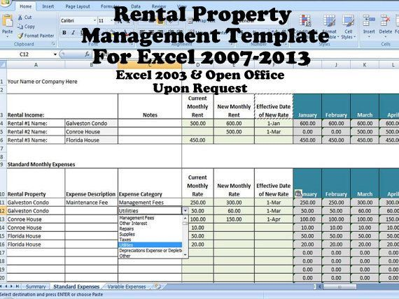 This template is designed for managing long-term rental property (versus vacation rentals). The file consists of 3 main sections– A Summary, Standard Monthly Information and Variable Expenses. The file will be able to manage up to 3 rental properties; however you can save multiple versions of the file if you have more. 1.) Summary – This page will automatically calculate your annual rental income for each property as well as the 14 main expense categories that are used in the Schedule E tax ...