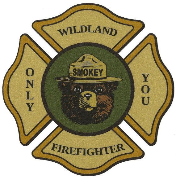 5 Smokey Bear Wildland Firefighter 3M Scotchlite by SmokeysHouse2, $11.95