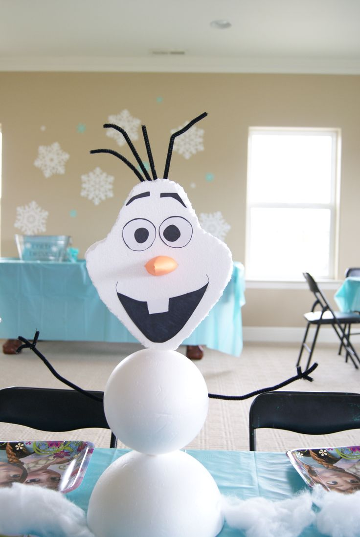 Olaf centerpiece frozen birthday party olivia s rd