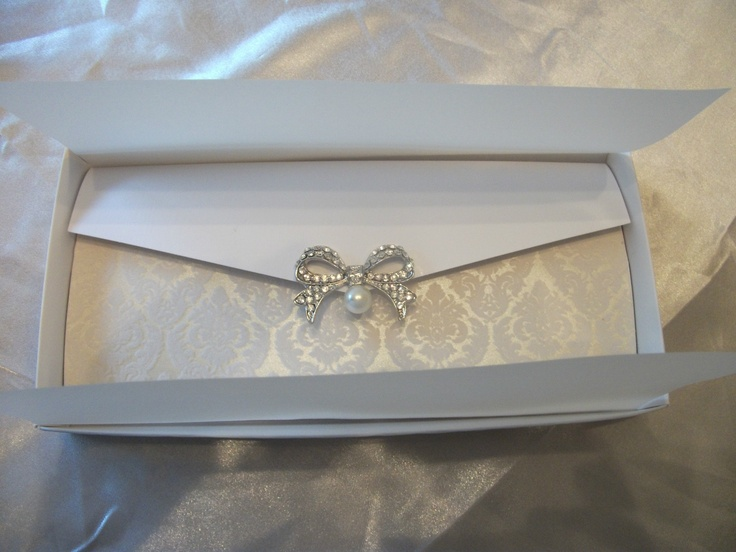 Handmade Couture Wedding Invitation (The Viennese Crystal) 1 X Sample