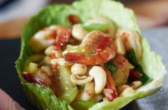 Gok Wan's spicy stir-fried prawns with cashew nuts