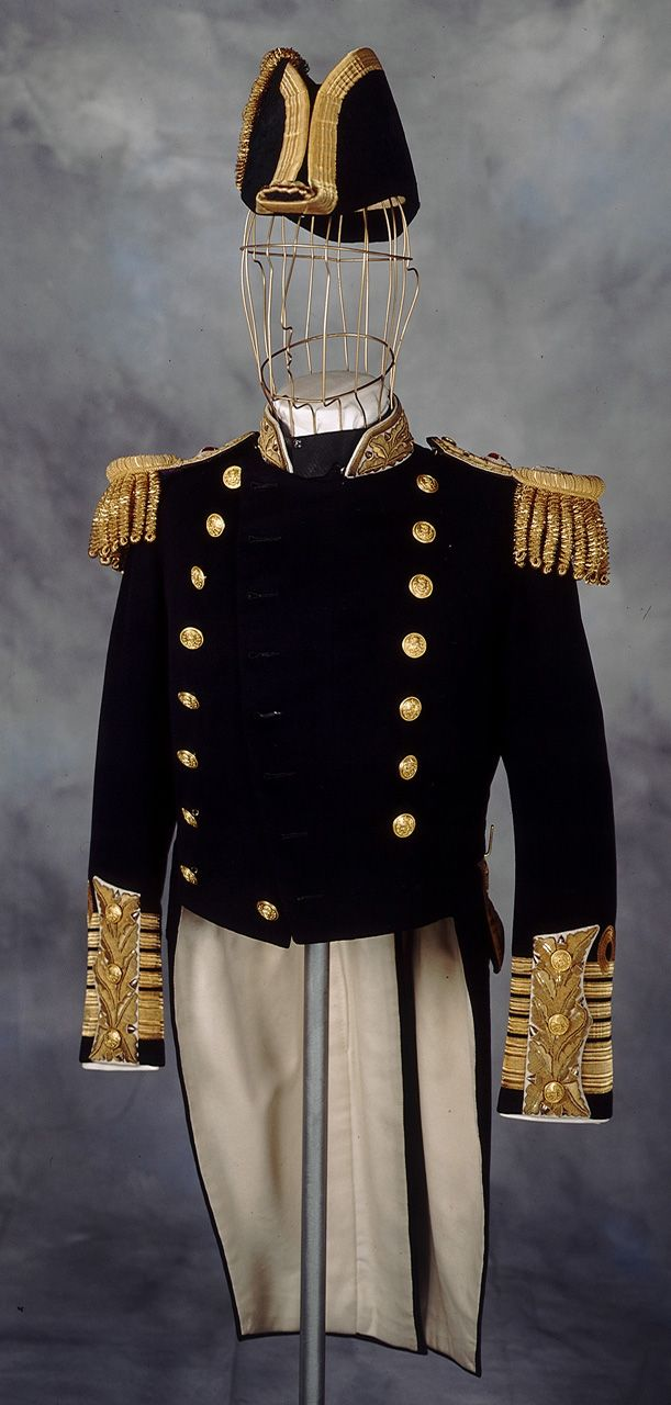 Front View of the Royal Naval uniform: pattern 1901 (but this one was made in 1936).