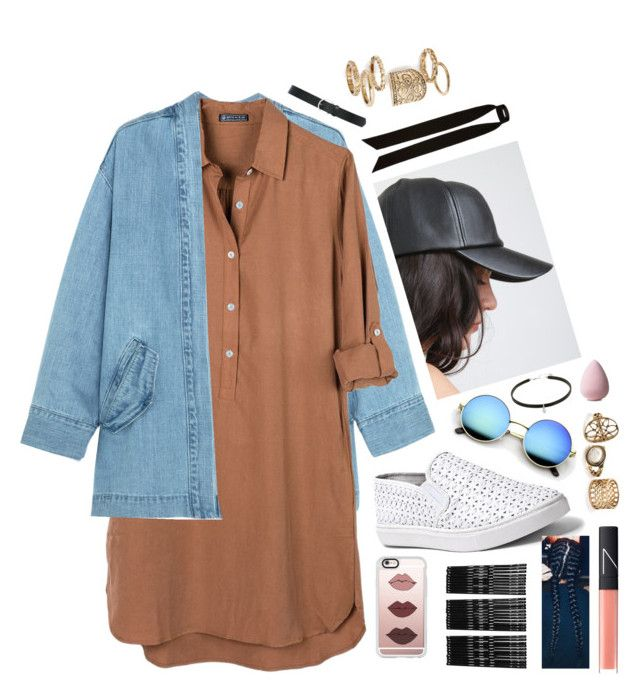 """""""black cap"""" by blogging on Polyvore featuring Steve J & Yoni P, United by Blue, Steve Madden, Casetify, Monki, River Island, M&Co, Topshop and NARS Cosmetics"""