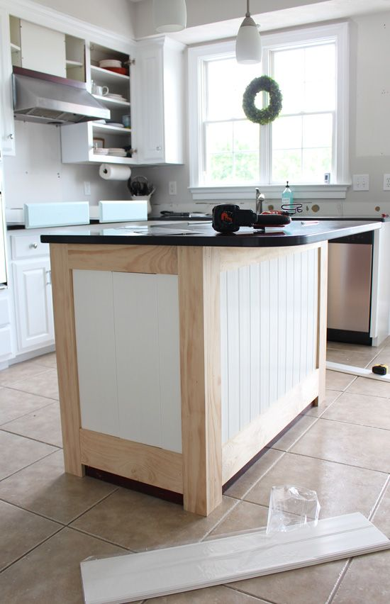 Kitchen Island Makeover with Beadboard great projects Pinterest