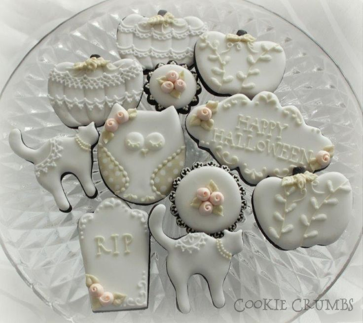 shabby chic halloween cookies cookie connection
