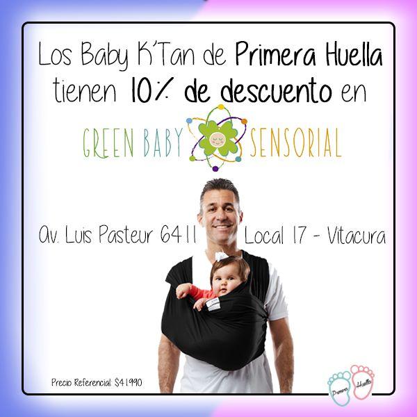 Lo prometido se cumple: Baby K'Tan tiene 10% de descuento comprando en Tienda GREEN BABY, para que vayas a todos lados con tu bebé siempre http://www.primerahuella.cl/portabebe