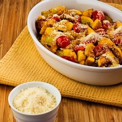 Kalyn's Kitchen®: Recipe for Val's Easy and Amazing Yellow Squash with Tomatoes and Parmesan