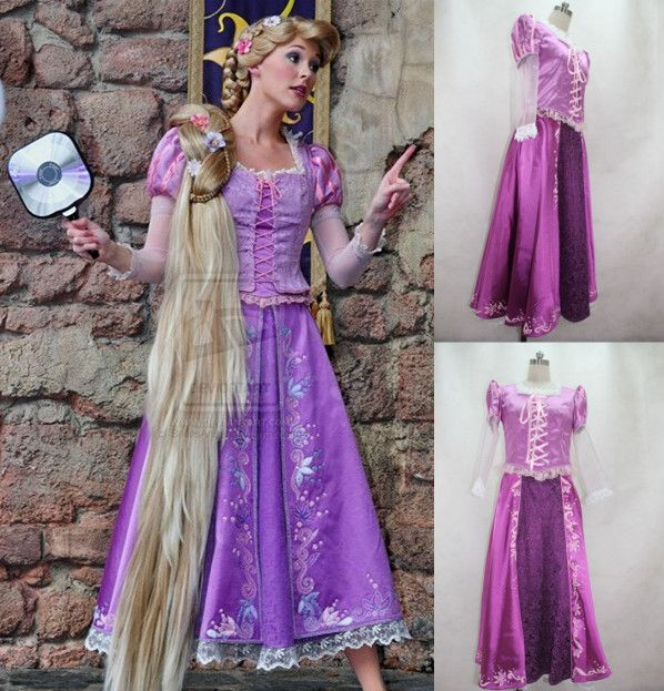 Beautiful Rapunzel Costume Princess Dress Custom-made For Kids And Adult Cosplay Costume Holloween Costume