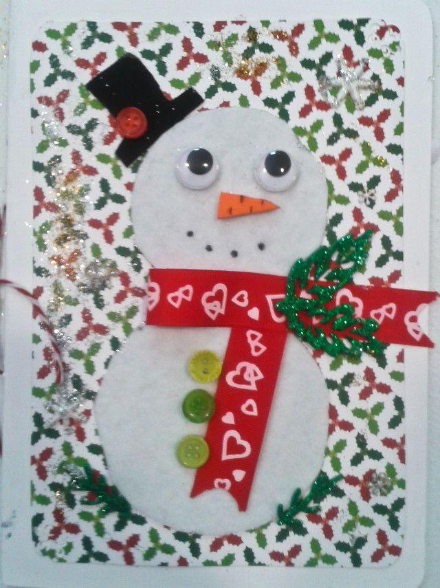 fotografas del taller de tarjetas de navidad