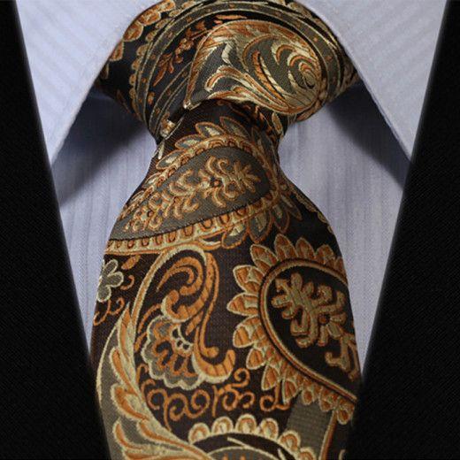 Luxusná pánska sada - kravata a vreckovka - vzor06