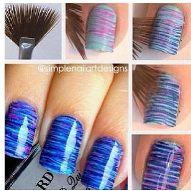 Use A Makeup Brush For Easy Nail Designs